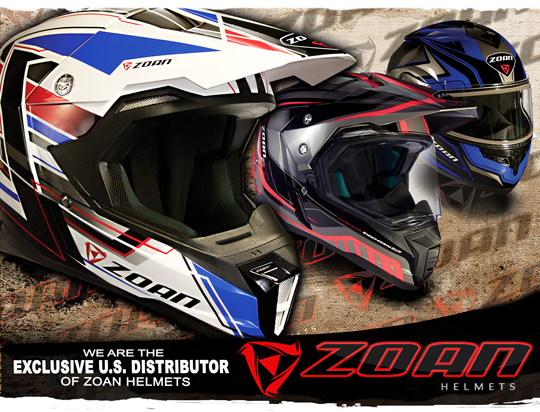 We are the Exclusive US Distributor of ZOAN Helmets!